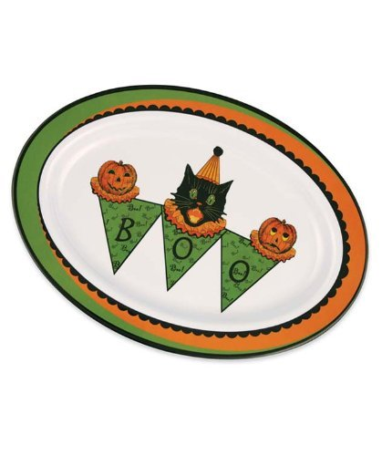 Bethany Lowe Designs Sassy Cat Halloween Platter by Bethany Lowe Designs -