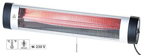 Semptec Terrassenstrahler: IR-Heizstrahler mit Thermostat IRW-3000.rbl, rote Lampe, 3.000 W, IP24 (Terassenheizer) - 2