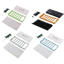 MagiDeal 4 Piezas de Bricolaje Caja de Banco de Energía Diseño Múltiple Accesorios de Teléfono Inteligente Móvil Reproductor Ordenador Compacto Ligero Multicolor