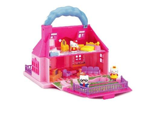 Hello Kitty - Mini casa de muñecas con 3 figuras y muebles