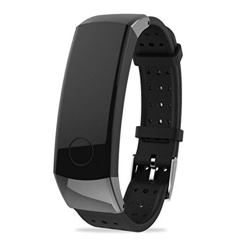 squarex New Fashion Sport Silikon Armband Gurt Band für Huawei Honor 3Smart Watch, damen, Schwarz, AS Show