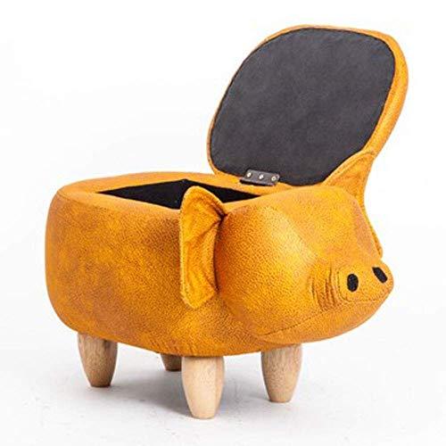 CHENDZ Kreative sitzung persönlichkeit Design massivholz Sofa Sitz praktische lagerung lagerung hocker Bank versuchen Schuhe Schuhe Bank Tragbarer Stuhl im freien (Color : Gold) -