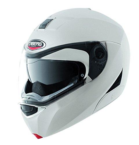 CABERG Modus metallo bianco viso aperto Moto Casco Nuovo, 0509177, White, 61-62 cm (XL)