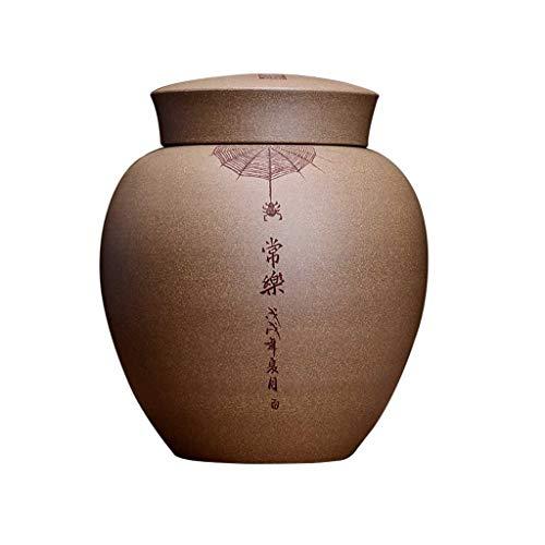 AUGAUST Conteneur de Stockage de thé de Sable Pourpre Original Fait à la Main isolé Odeur Sculpture modèle Facile à Utiliser 8.5 * 19 cm (Couleur : A, Taille : 8.5 * 19cm)