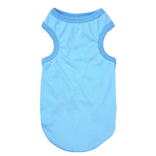 Preisvergleich Produktbild Zrong Haustier Hund Katze Solid Color T-Shirt Kleidung Weste Sommer-Kleidung Kostüme
