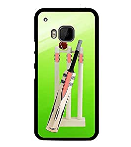PrintVisa Cricket Vector Background High Glossy Designer Back Case Cover for HTC One M9 :: HTC One M9S :: HTC M9 :: HTC One Hima