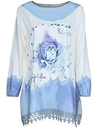 Blusa camiseta tops para mujer Otoño,Sonnena Mujer Blusa manga larga con estampado floral y botonadura talla grande casual traje de urbano estilo…