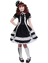 6e1e9a7651aa9 antaina Vestido de cosplay lolita gótica punk gótica runfriend gótica black