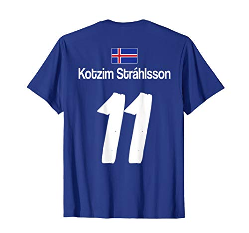Kotzim Strahlsson Island Fußball Trikot Saufen Alkohol Witz T-Shirt