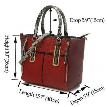 LeahWard® , Damen Tote-Tasche L Schwarz Großer Tote (40x15x26cm)