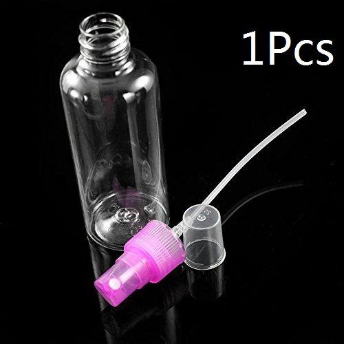 Interesting® 1Pcs 100 ml Travel transparenten Kunststoff Parfum Zerstäuber leer kleine Sprühflasche