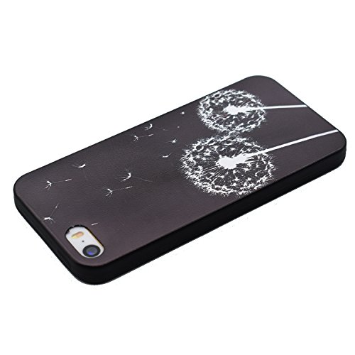 Voguecase® Per Apple iPhone 7, Custodia Silicone Morbido Flessibile TPU Custodia Case Cover Protettivo Skin Caso (Be happy / pastello) Con Stilo Penna Nero-Dandelion 20