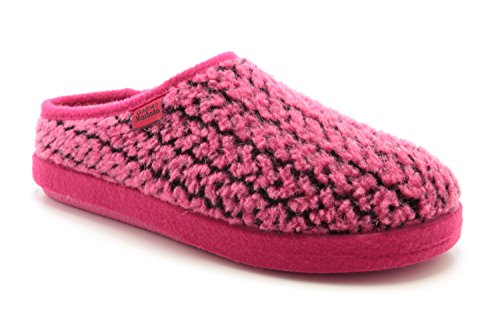 AM001 - Andres Machado - Das Original seit 1984 - MADE IN SPAIN - Fußbett - Hausschuhe in Flechteform-Look AM001MARCAS Pink
