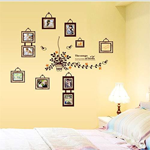 Zxfcczxf Familie Foto Rahmen Abnehmbare Wand Aufkleber Schlafzimmer Baby Fotoalbum Diy Korb Dekorative Tapete Entfernen Umwelt Protecti