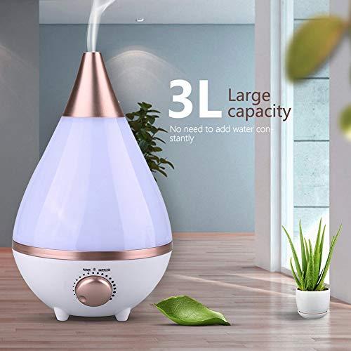 Cocoarm 3L Humidificador Aceites Esenciales Humidificador Aromaterapia LED para Hogar, Oficina,Bebé,Dormitorio,Etc,EU 220V 30x 15cm