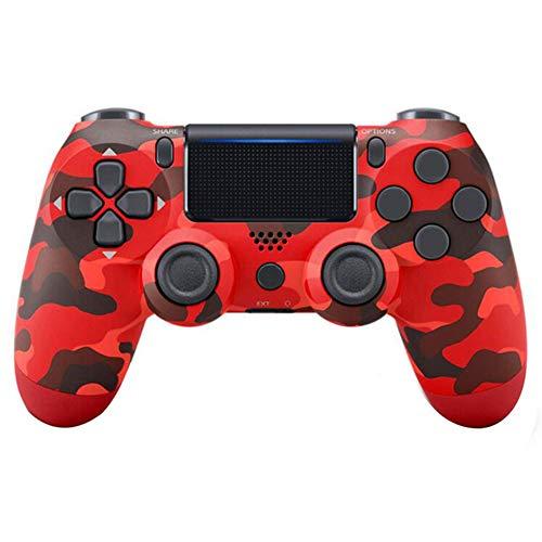 HEWE Bluetooth Gamepad Joystick, Für Playstation 4 Spiele-Konsole PC Dampf Wireless-PS4-Controller,Rot