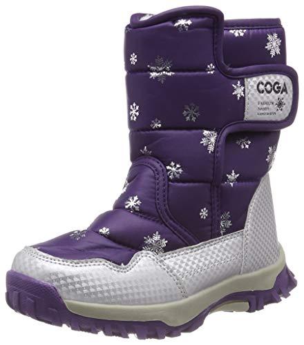 SAGUARO® Bambini Ragazza Stivali da Neve Inverno Stivaletti Pelliccia Boots Impermeabile Stivali,Viola,27 EU