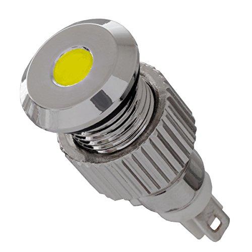12V LED Signalleuchte IP67 gelb mit 8mm Metallfassung Signallampe - Led-meldeleuchte