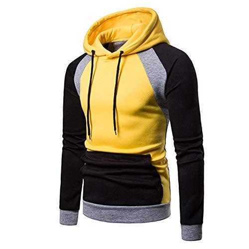 Styledresser a Buon Mercato Abbigliamento Sportivo da Uomo,Camicie da Notte Parto Manica Lunga Felpa con Cappuccio da Uomo A Maniche Lunghe con Cappuccio Raglan Autunno Inverno da Uomo