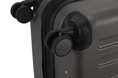 HAUPTSTADTKOFFER® Hartschalen Koffer SPREE 1203 · NEU 4 Doppel-Rollen · MATT · TSA Zahlenschloss · + KOFFERANHÄNGER (Set, Graphit) - 8