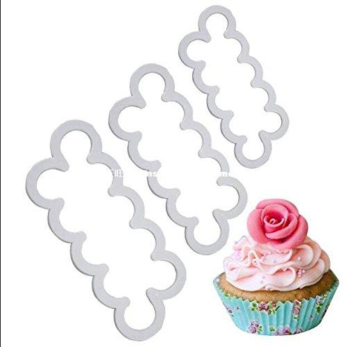 3 stücke Rose Immer Schneider Fondant Gum Paste Kuchen Dekorieren 3D Blumen Formen Cookies DIY Kuchen (Cookie-presse)
