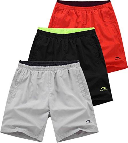 donhobo Herren Kurze Hosen Männer GYM Training Sport Shorts mit Taschen 3pack1