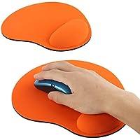 Mousepad poggiapolsi per tastiera in gel - arancione