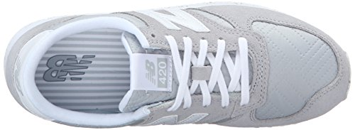 New Balance Women's 420 Prep Pack Lifestyle Sneaker Silver Mink/White