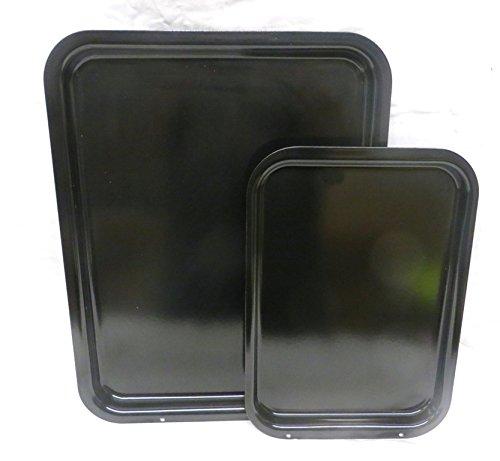 2Stück Aga Sichere British Made dickem gläserne Emaille Stahl Backen/Braten Set.., um die Aga. (Läufer Messer)