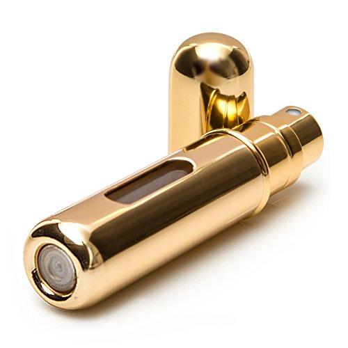 Pressit Travel Size Profumo Flacone Spray con Easy Refill, Argento Metallizzato