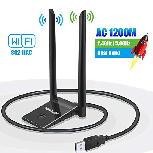 WiFi USB Antena Dongle Adaptador PC 5GHz/867Mbps 2.4GHz/300Mbps