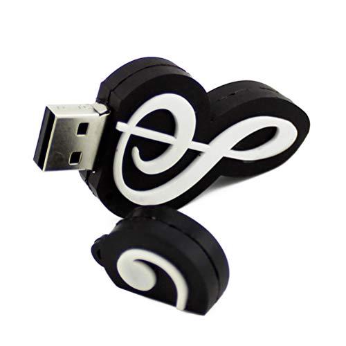 Neuheit Musik Hinweis Form 64GB USB 2.0 Flash Drive Cool USB Stick Speicherstick Daten Lagerung Lustig U Disk Geschenk (Schwarz)