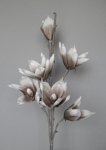 Unbekannt künstliche Magnolie mit Stil - braun Kunstblume Blüte Schaumblüte Foam Blume