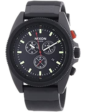 Nixon Herren-Armbanduhr XL Analog Quarz Silikon A290760-00