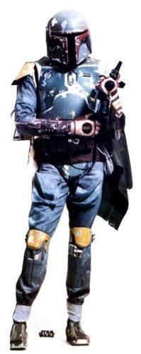 Lebensgroßer Aufsteller aus Pappe (Stand-up, Pappaufsteller, Life-Size) Boba Fett, 196 cm (Aufsteller Standup Cardboard Cutout) (Standups Pappe Lifesize)