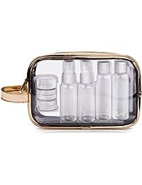 8e5c23192 Neceser de Maquillaje, Bolsa de Viaje Transparente y Impermeable con 7  ollas de contenedores,