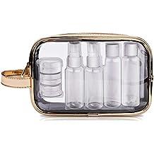 20a975483 Neceser de Maquillaje, Bolsa de Viaje Transparente y Impermeable con 7  ollas de contenedores,