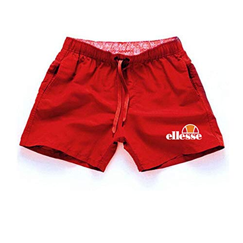 JKULOO Shorts Herren Sommer Strand Kurze Marke Druck Casual Männer Mode Stil Nur Brechen Es Plus größe Sport Cargo für Jungen Retro schwarz Armour Sweat Rot 02 M