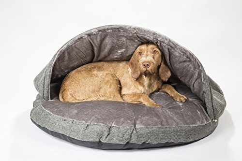 "Collared Creatures Dog Cave Bed, Dog Bed, Extra Large 114cm (45"") Grey 4"