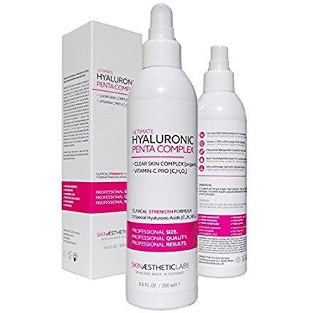 Hyaluronsäure Serum Konzentrat • Klinik-Größe • Anti Aging Gel mit Vitamin C Pro • Clear Skin Complex • Hypoallergen • Pflege...