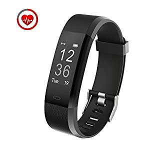 Fitness Tracker Con monitor de ritmo cardíaco,Vigorun YG3 Plus Rastreador de actividad Bluetooth Point Touch Control remoto de la cámara Modo de movimiento múltiple Compatible con Android e iOS