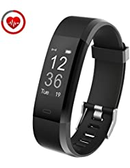 Fitness Tracker con monitoraggio cardiofrequenzimetro Vigorun YG3 Plus Touch Point Touch Point Bluetooth Telecamera remota / controllo musicale / Multiple Sports Mode Funziona per smartphone Android e iOS (Nero)