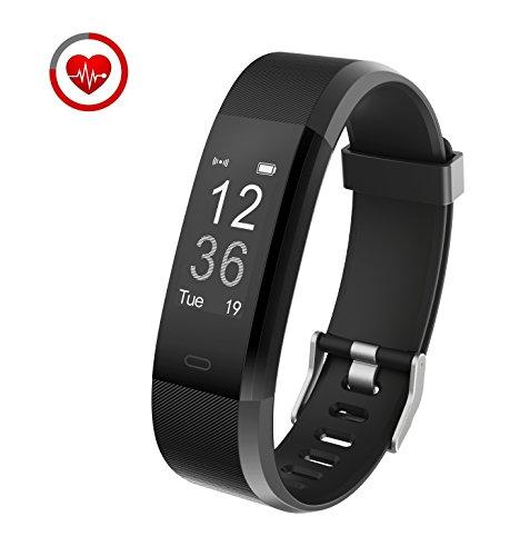 Fitness-Armband mit Herzfrequenz-Monitor Vigorun YG3 Plus Bluetooth Punkt Touch Fitness Tracker Fernbedienung Kamera steuerung / mehrere Sport-Modus funktioniert für Android & iOS Smart Phones