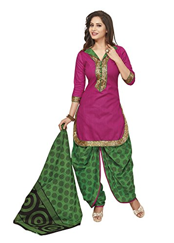 Gugaliya Women's ROYAL CLASS Premium CELEBERATION Series 100 % Cotton UNSTICHED RED color Patiala Salwar