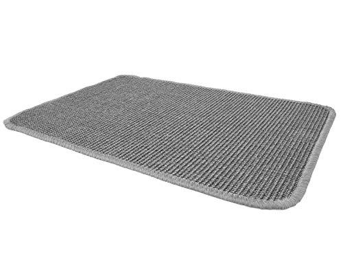 Primaflor - Ideen in Textil Sisalteppich Sisallux – 1,00m x 2,00m, Grau, Rutschfest ✓ Für Fußbodenheizung ✓ Sisalmatte als Teppich-Läufer, Brücke & Vorleger, Küchenläufer
