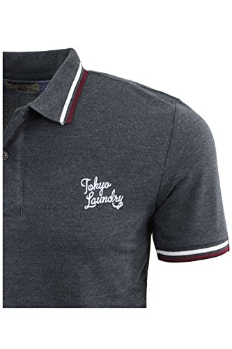 Herren Polo T-Shirt von Tokyo Laundry `Penn State`kurzärmlig Charcoal Grey Marl | Goodwin Point