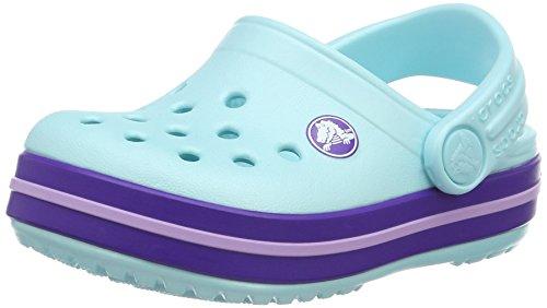 crocs Unisex-Kinder Crocbandclogk Clogs, Blau (Ice Blue), 34-35 EU
