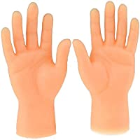 eamqrkt Screepy Halloween Mini Finger Hands Tiny Left Right Hand for Game Party Costume