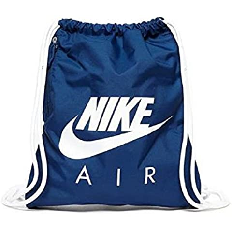 Nike Heritage Gymsack Smu - Mochila para mujer, color azul, talla única