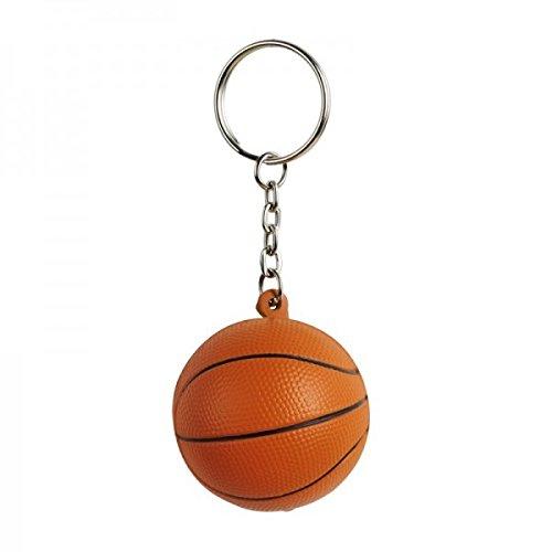 Schlüsselanhänger Basketball 6 Stück- - Anti Stress Artikel | Werbegeschenk | Mitgebsel für Kinder-Geburtstag | Fanartikel